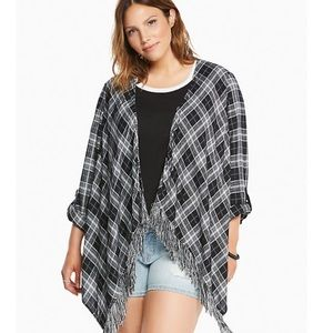 Torrid 00 plaid cardigan